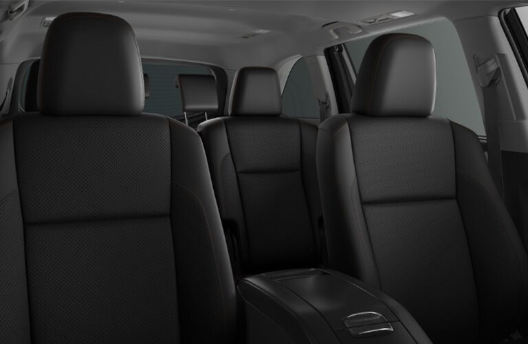 black seating inside of 2019 Toyota Highlander Hybrid