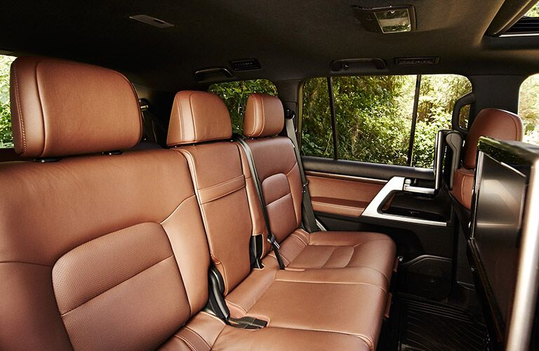 rear seating inside of 2019 Toyota Land Cruiser