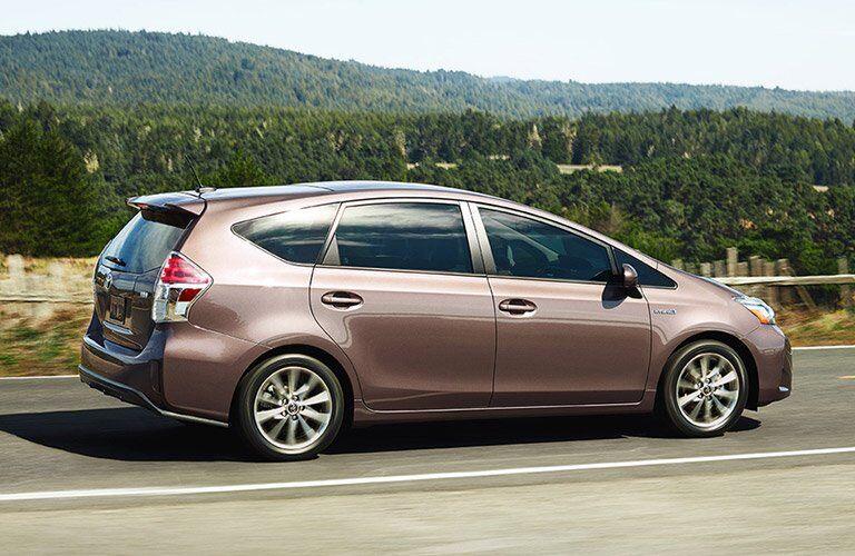 tan Toyota Prius v