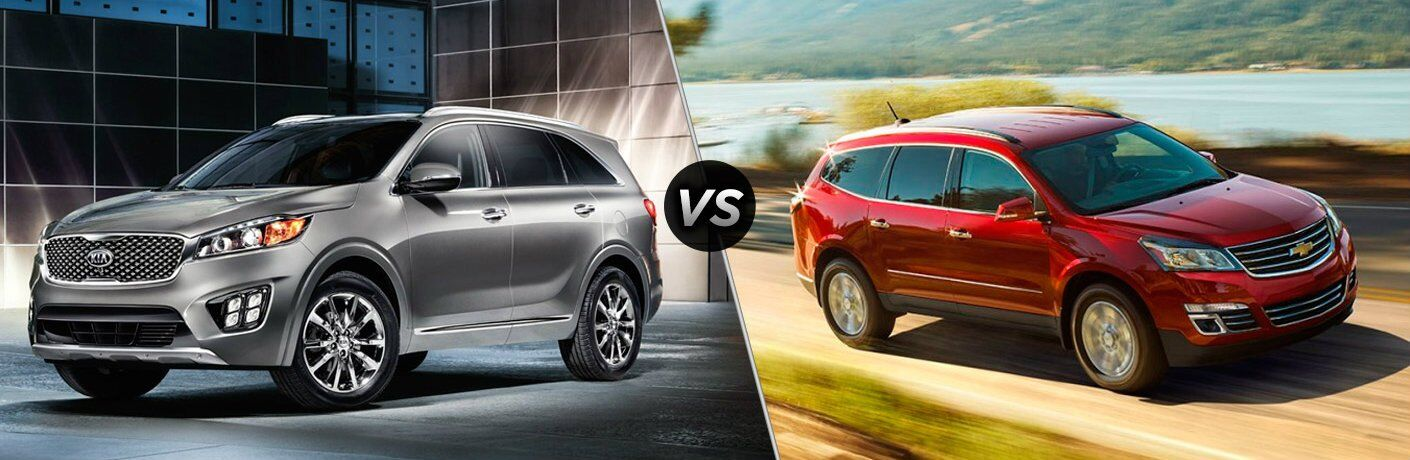 Chevy traverse vs kia sorento
