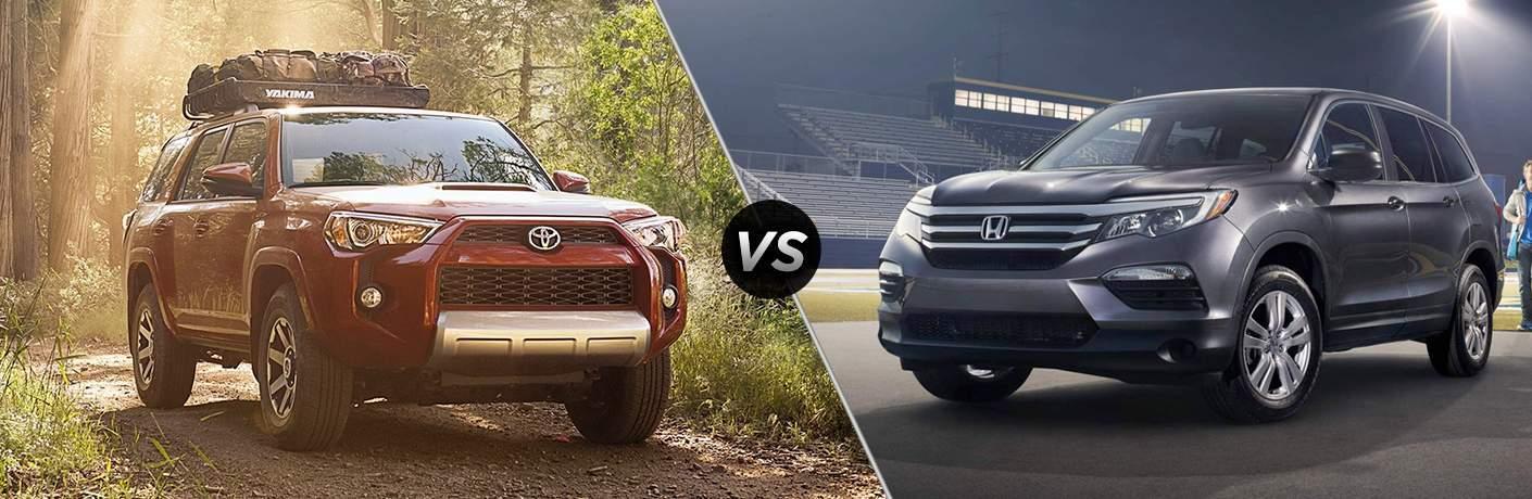 2017 Toyota 4Runner vs 2017 Honda Pilot