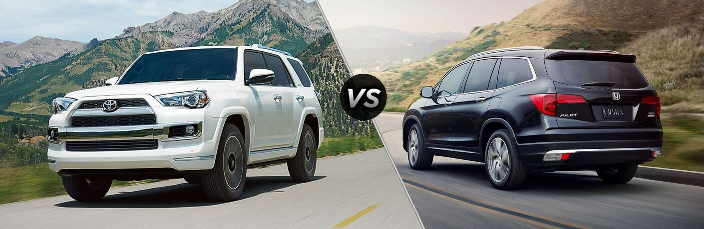 A side-by-side comparison of the 2018 Toyota 4Runner vs. 2018 Honda Pilot.