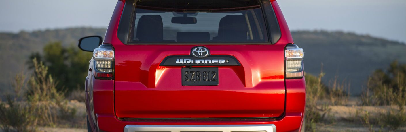A rear photo of the 4Runner badge on the 2018 Toyota 4Runner.