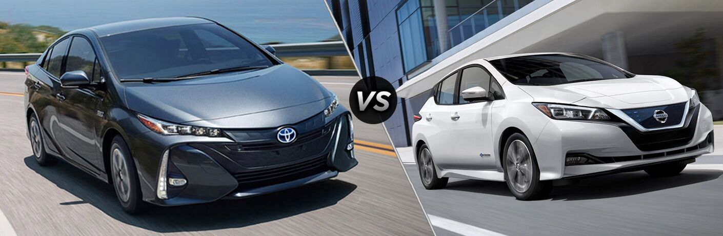 A side-by-side comparison of the 2018 Toyota Prius Prime vs. 2018 Nissan Leaf.