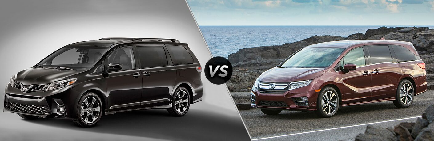 A side-by-side comparison of the 2018 Toyota Sienna vs. 2018 Honda Odyssey.