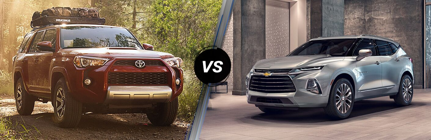A side-by-side comparison of the 2019 Toyota 4Runner vs. 2019 Chevy Blazer.