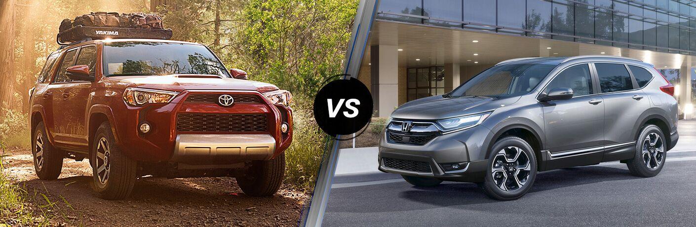 A side-by-side comparison of the 2019 Toyota 4Runner vs. 2019 Honda CR-V