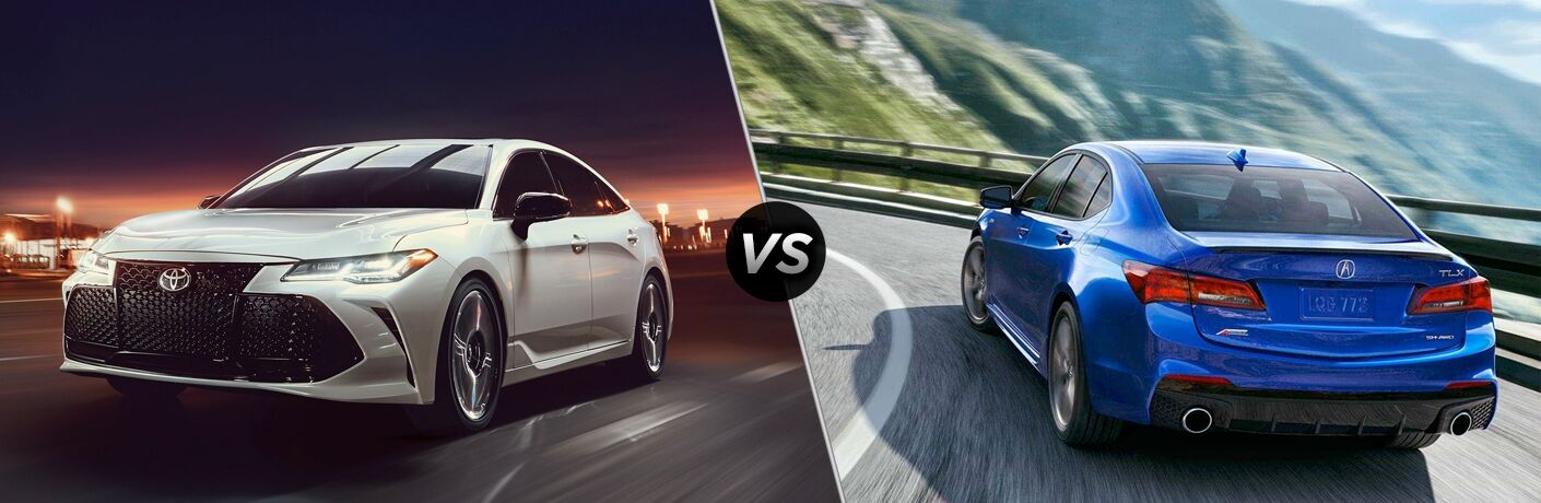 A side-by-side comparison of the 2019 Toyota Avalon vs. 2019 Acura TLX