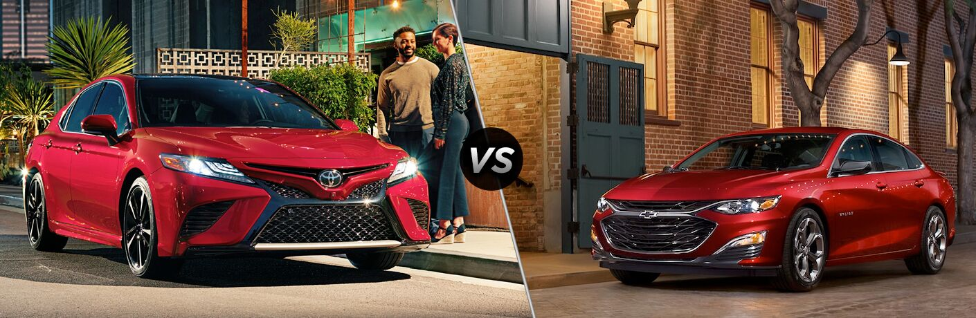 A side-by-side comparison of the 2019 Toyota Camry vs. 2019 Chevy Malibu.