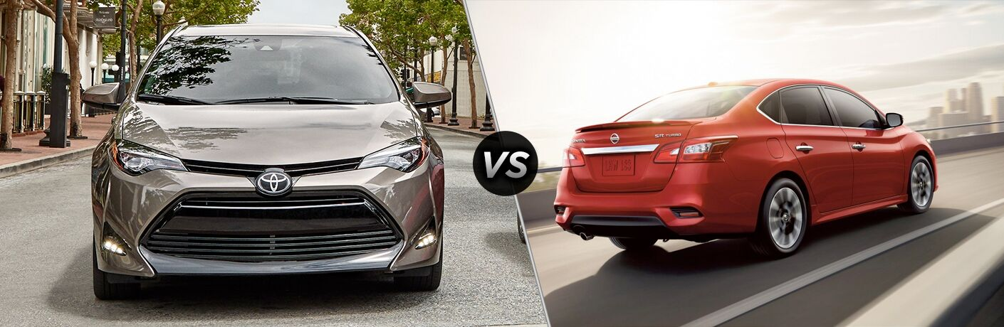 A side-by-side comparison of the 2019 Toyota Corolla vs. 2019 Nissan Sentra.
