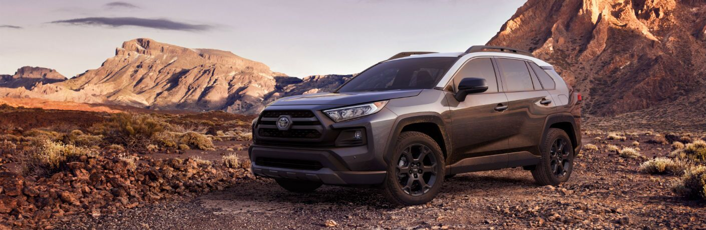 A front-left quarter photo of the 2020 Toyota RAV4 TRD Off-Road.