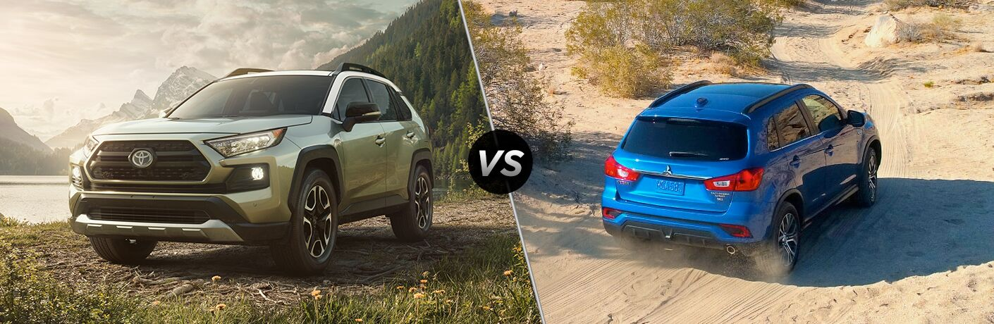 A side-by-side comparison of the 2019 Toyota RAV4 vs. 2019 Mitsubishi Outlander Sport.