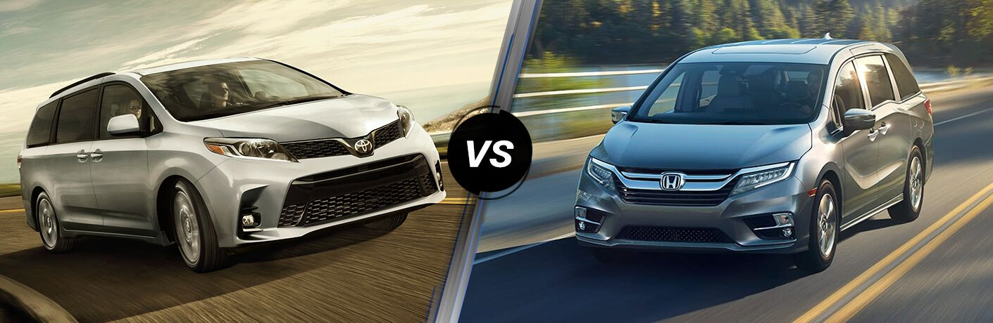 A side-by-side comparison of the 2019 Toyota Sienna vs. 2019 Honda Odyssey.