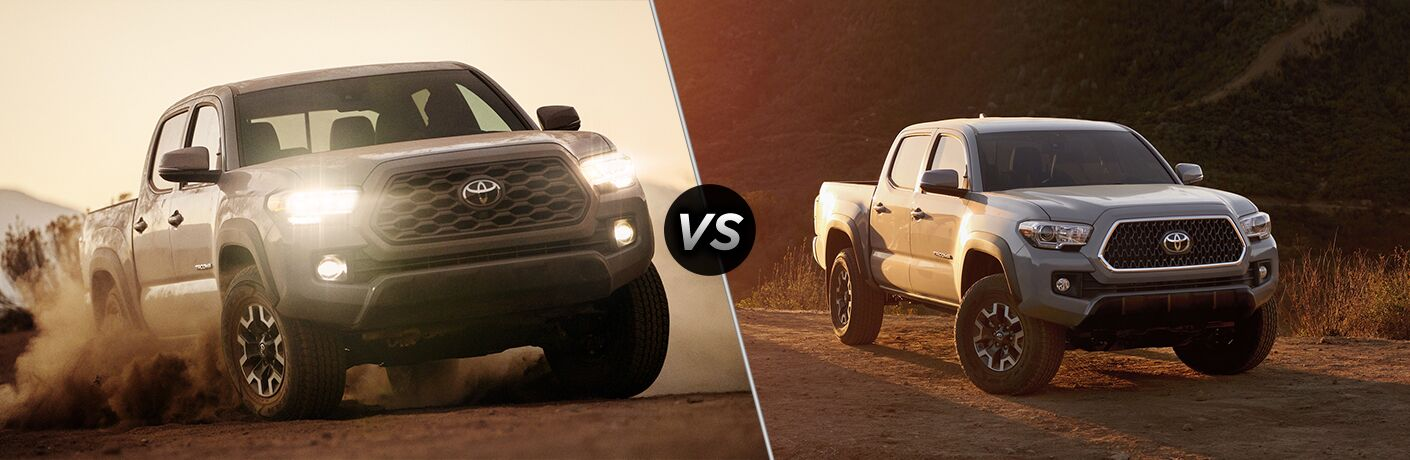A side-by-side comparison of the 2020 Toyota Tacoma vs. 2019 Toyota Tacoma.