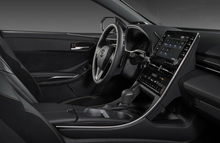 An interior photo of the infotainment system used in the 2019 Toyota Avalon.