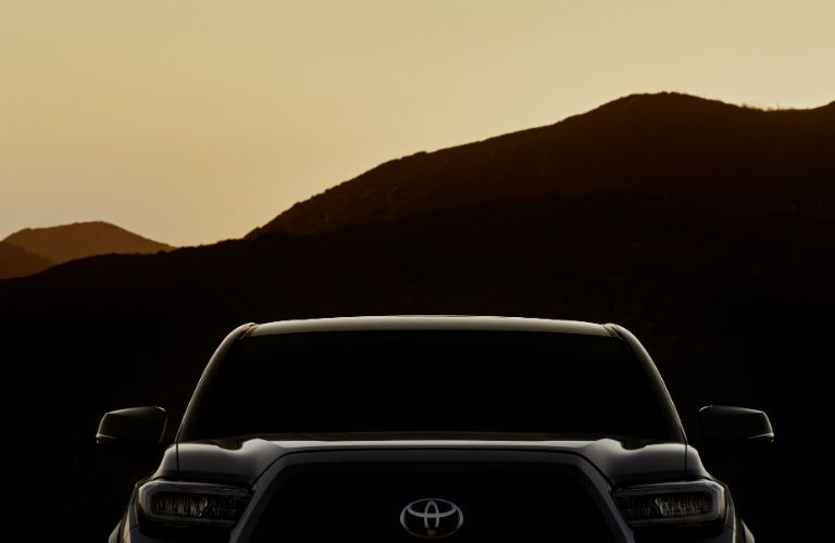A silhouetted photo of the 2020 Toyota Tacoma.