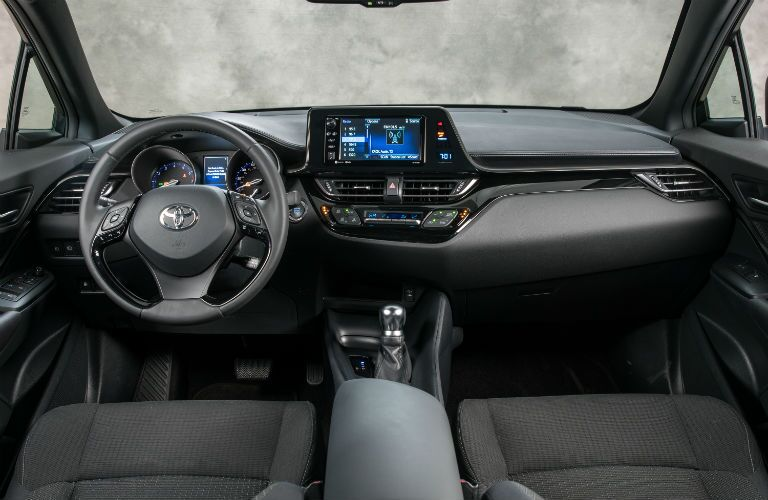 A photo of the technology equipped in the 2019 Toyota C-HR.