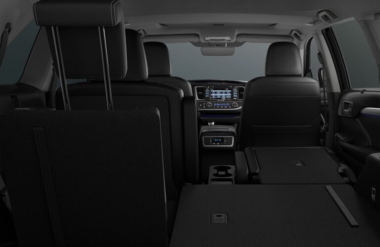 A photo of one of the interior configurations in the 2019 Highlander.