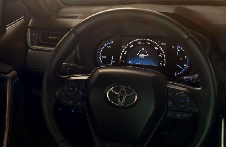 A look at the new center gauge cluster used in the 2019 RAV4.