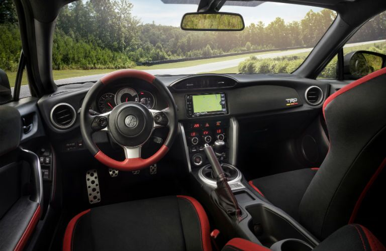 An interior photo of the driver's cockpit in the 2019 Toyota 86 Special Edition.