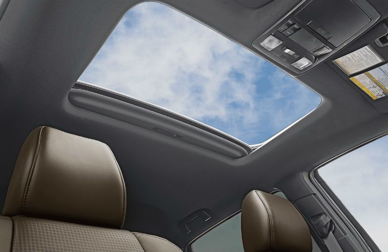 A photo of the available sunroof in the 2018 Tacoma.