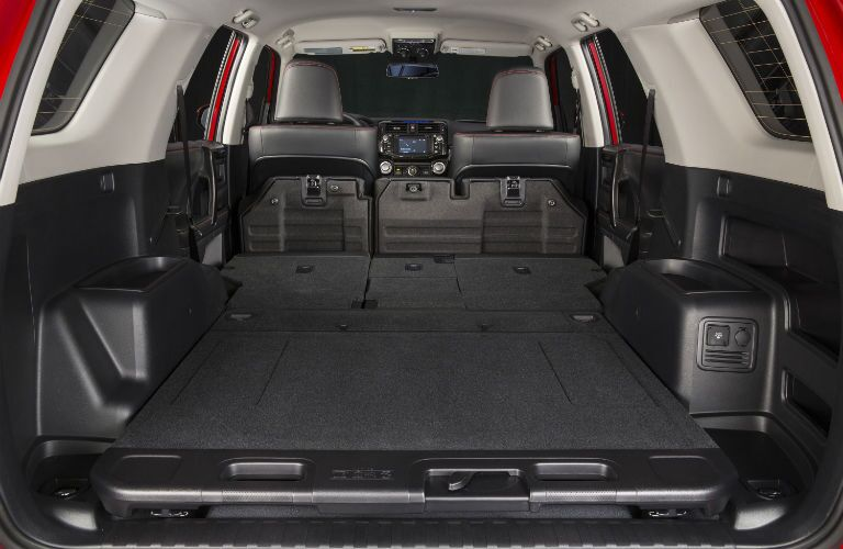 A photo of the maximum available cargo area in the rear of the 2019 4Runner.