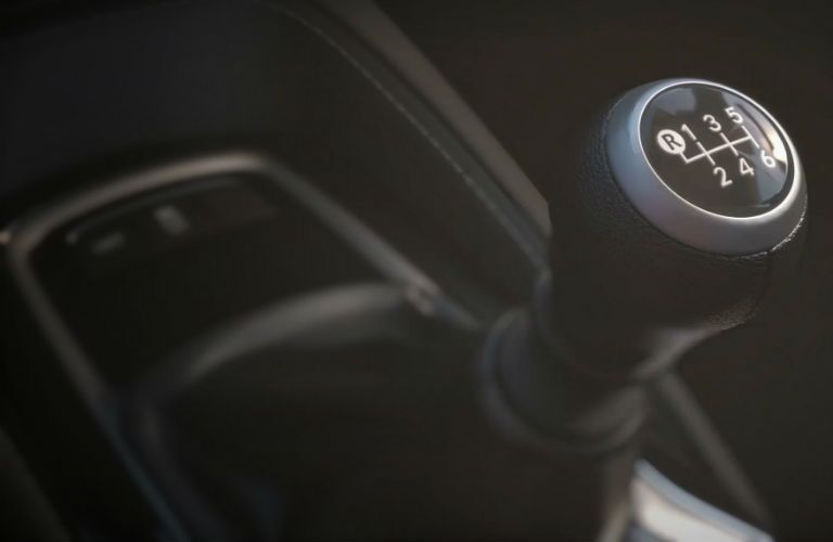 A photo of the gear-shifter on the manual transmission that can be equipped in the 2019 Toyota Corolla Hatchback.