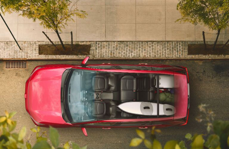 An overhead cut-away photo of the 2019 RAV4.