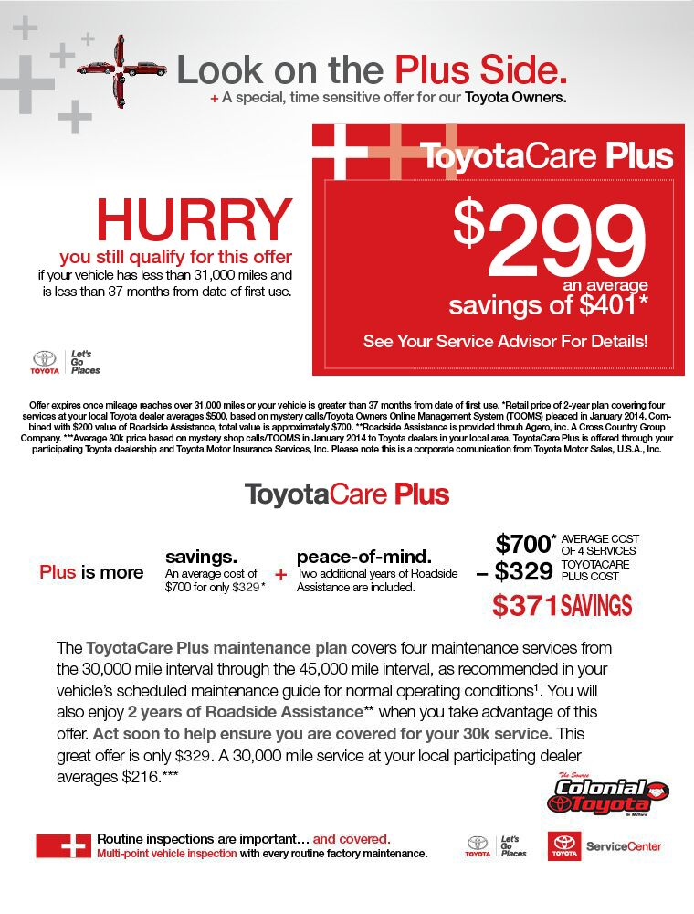 Toyota Care Plus >> Toyotacare Plus Milford Ct Colonial Toyota