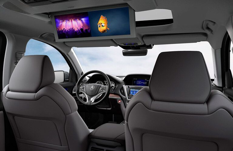 Does the Acura MDX have rear seat entertainment?