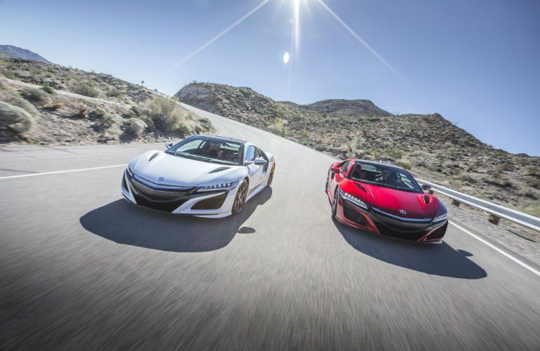 2017 Acura NSX color options