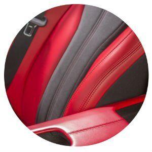2017 Acura NSX seat material