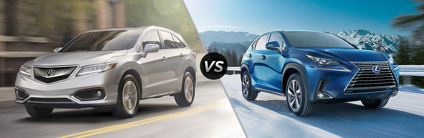 2018 Acura RDX vs 2018 Lexus NX 300 exterior views