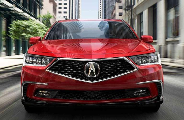 Front End and Grille of 2018 Acura RLX