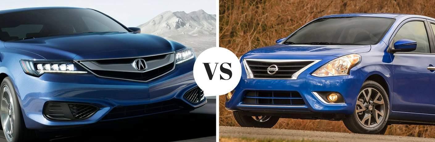 2018 Acura ILX vs 2018 Nissan Versa