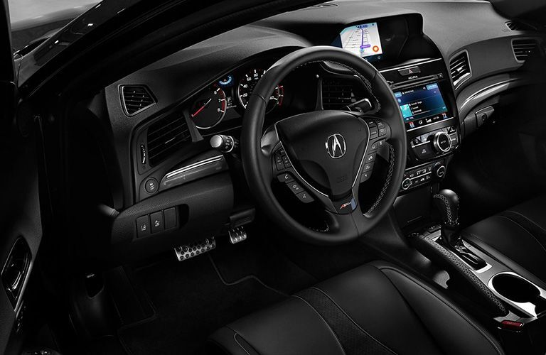 Steering wheel and center gear shifter of 2019 Acura ILX