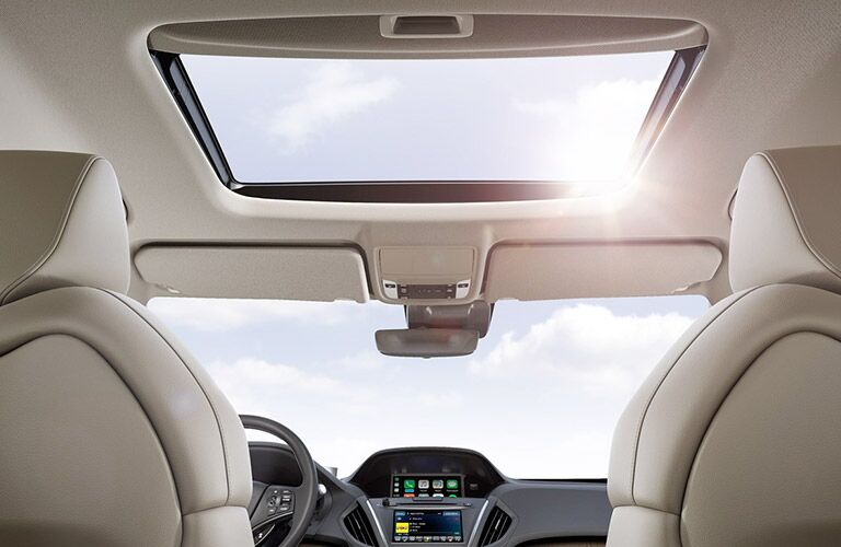 sunroof inside of 2019 Acura MDX