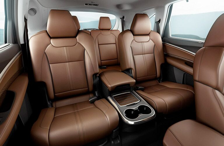 brown seating inside of 2019 Acura MDX