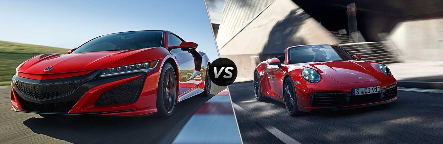 2019 Acura NSX vs 2019 Porsche 911