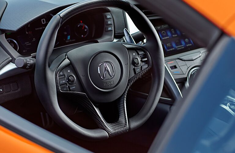 2019 Acura NSX steering wheel and console display