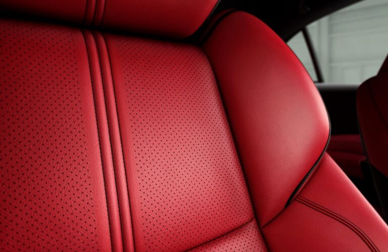 red seating inside of 2019 Acura TLX