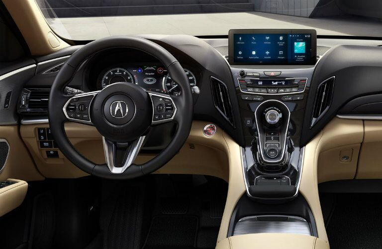 Steering wheel and center touchscreen of 2019 Acura RDX