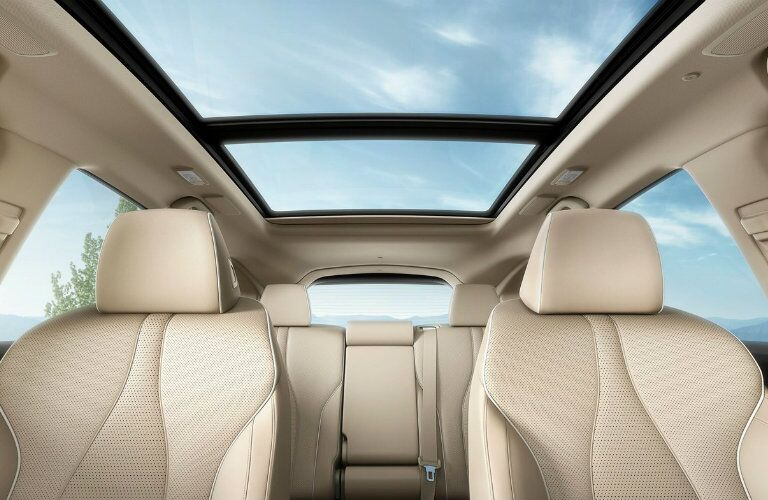 Two rows of seating and moonroof of 2019 Acura RDX