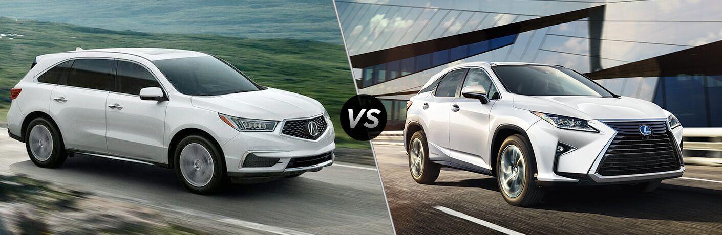 2020 Acura MDX vs 2020 Lexus RX 350