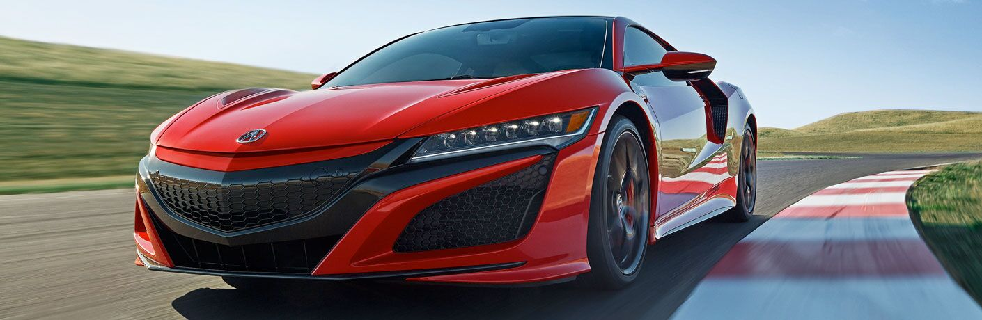 2020 Acura NSX on a track