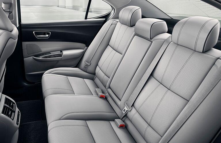 2020 Acura TLX white interior rear seat view