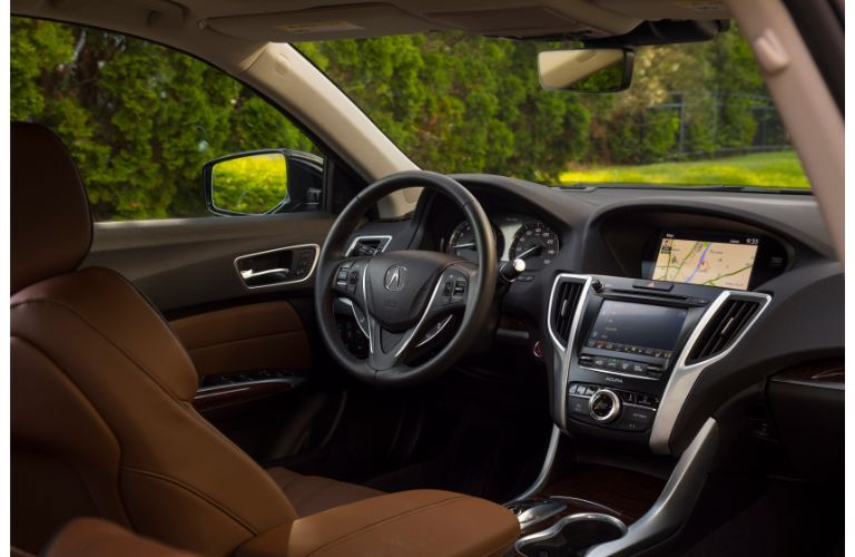 2020 Acura TLX front row seat view