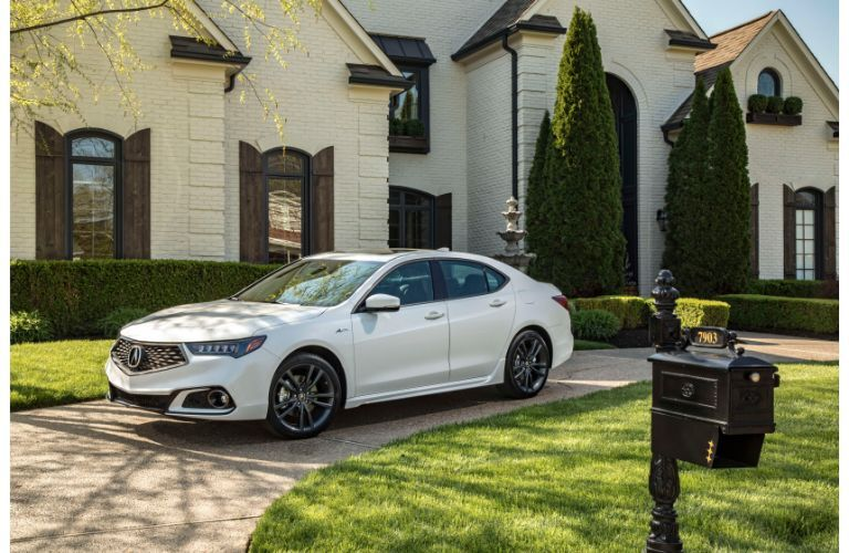 2020 Acura TLX parked in a driveway