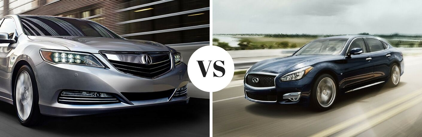 2017 Acura RLX vs 2017 INFINITI Q70L