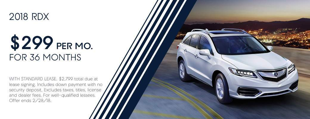 2018 Acura RDX Lease Offer Info
